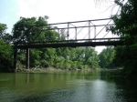 Old Caney River Iron Bridge below dam east of Cedar Vale, Kansas. Approx. 1/4 mile east and 1/8 mile north off of old Hw